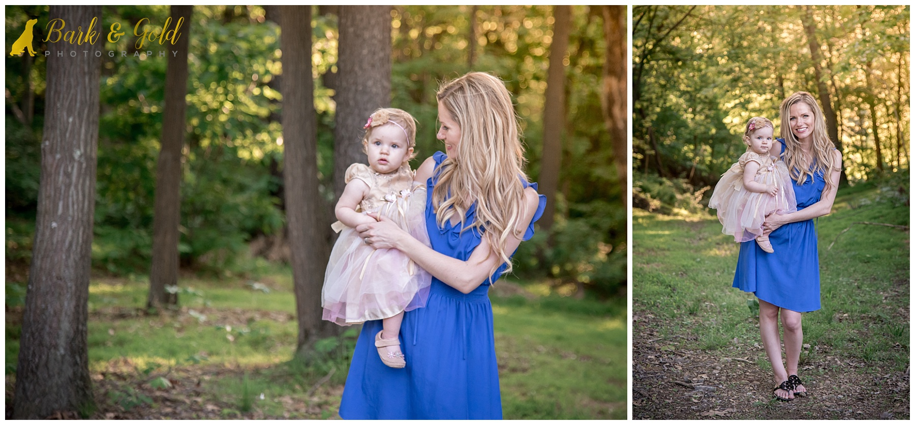 young mother holding daughter at golden hour during family session in Monaca