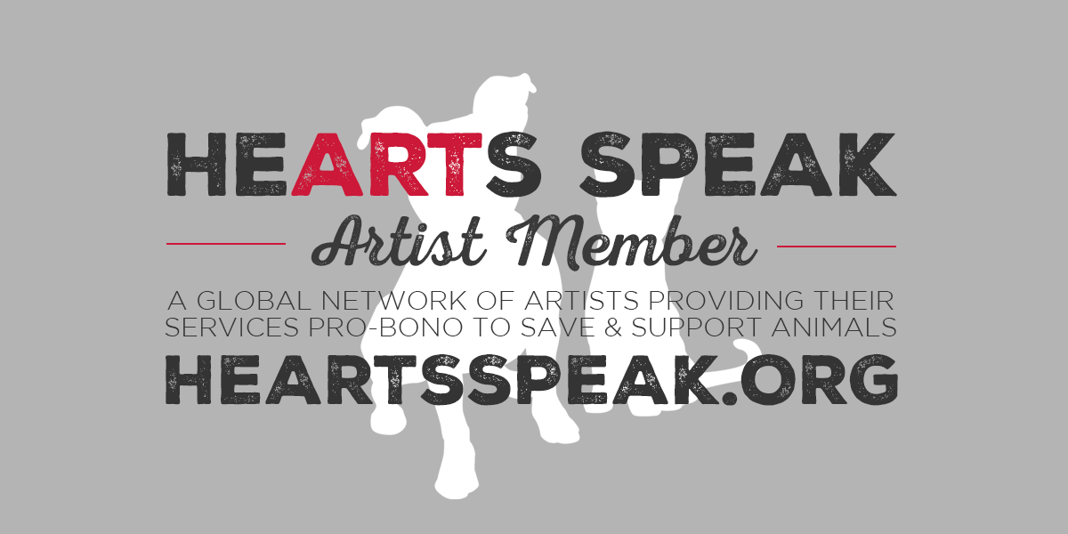 HeARTs Speak gray artist member promo banner