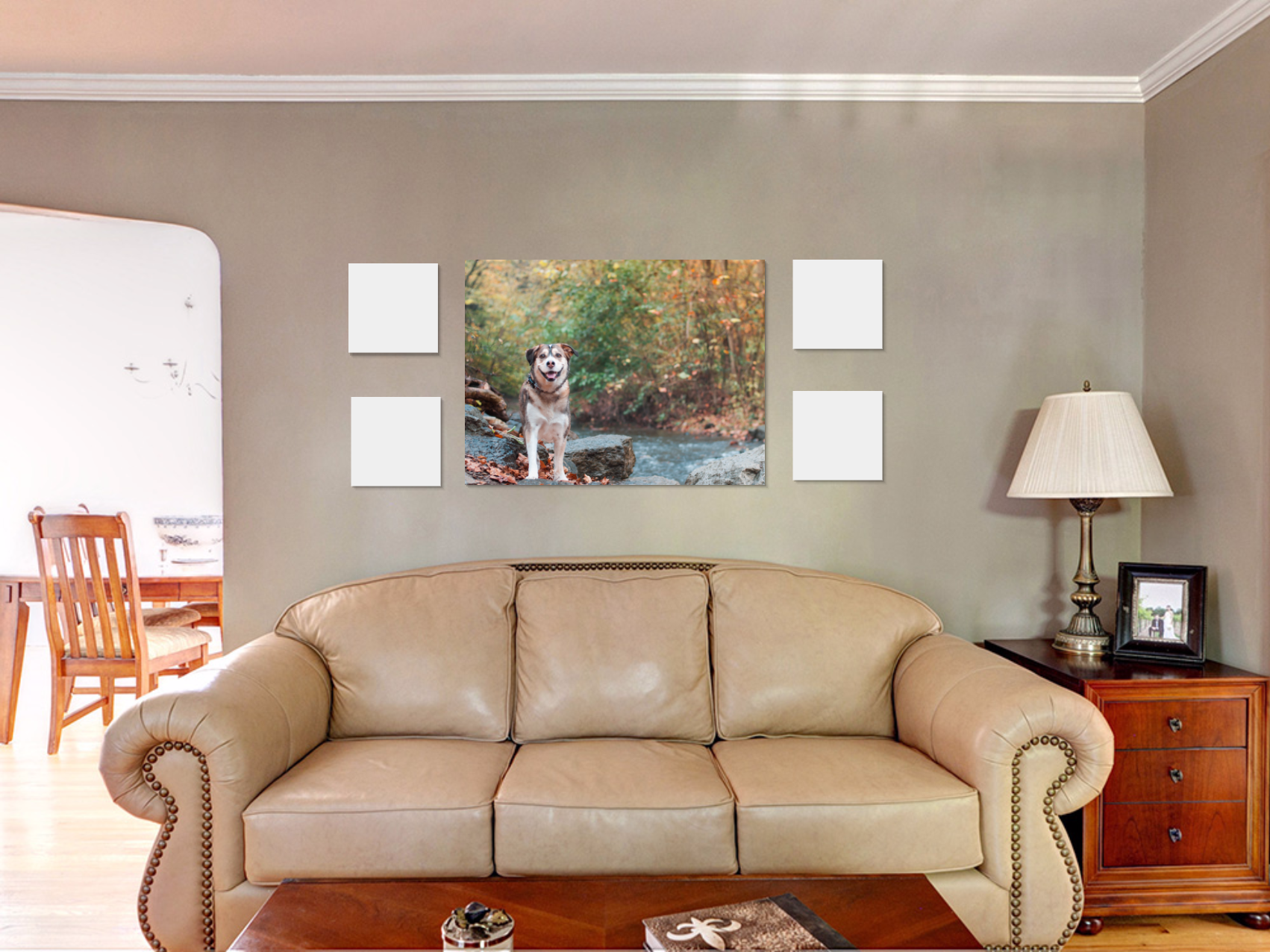 30x40 wall art collection in living room