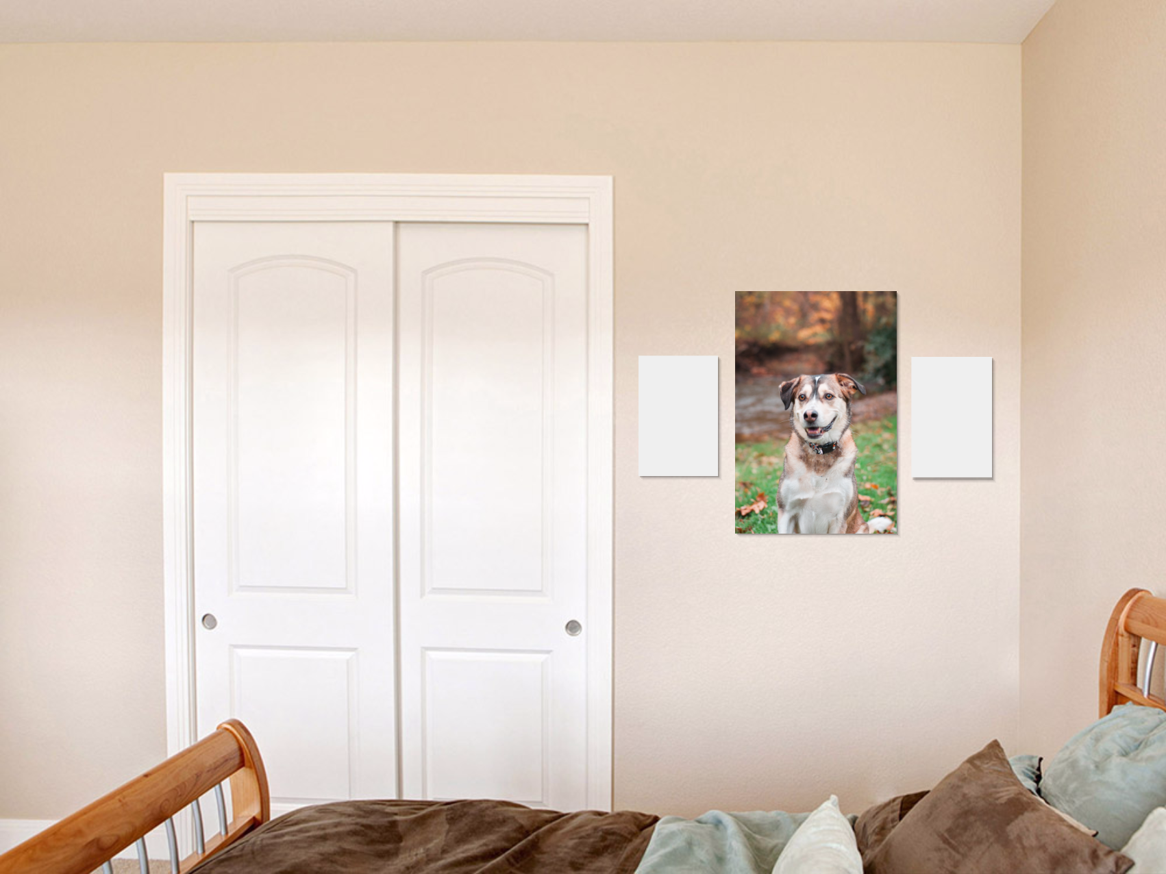 24x26 wall art with 12x8s canvases