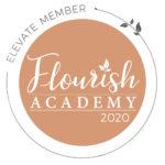 Flourish Academy Elevate badge for 2020