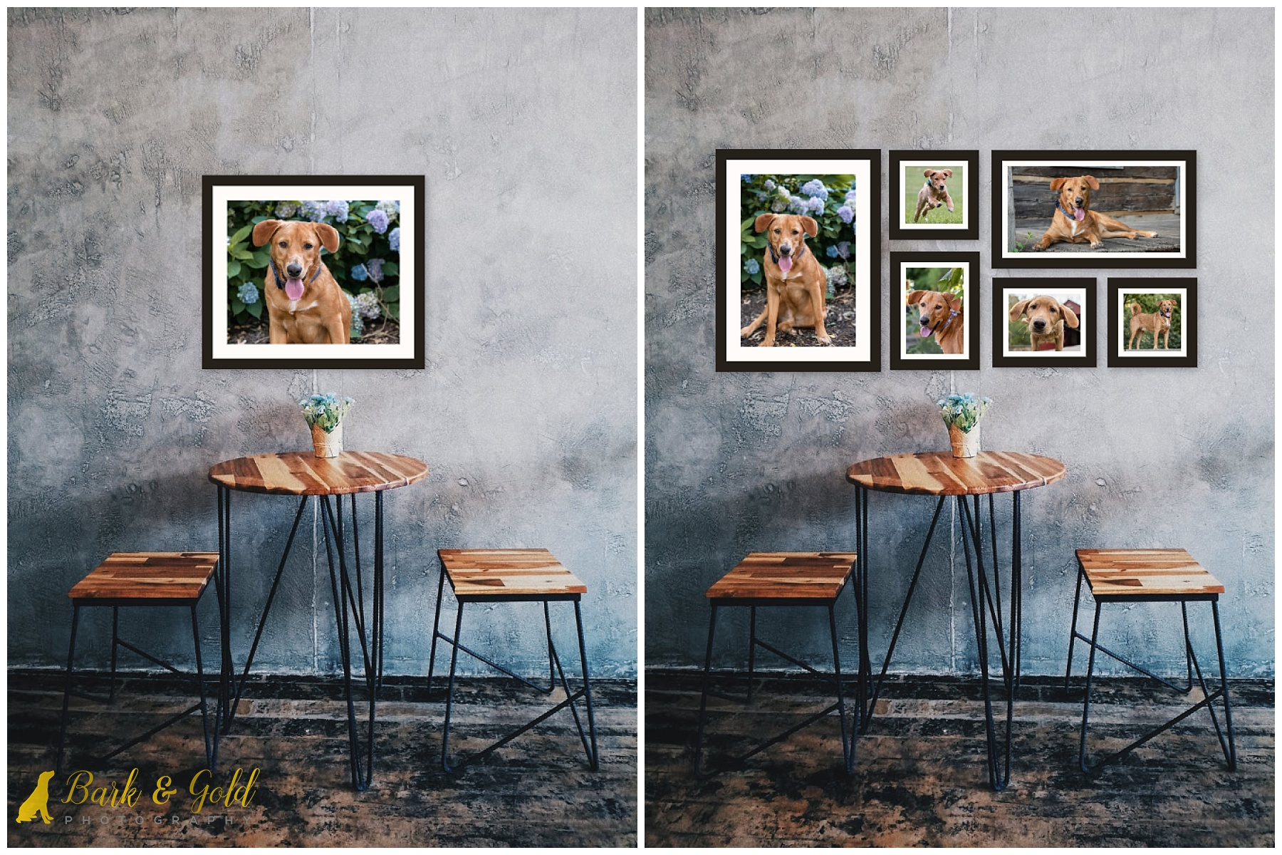 signature wall art as a single piece versus a wall art grouping