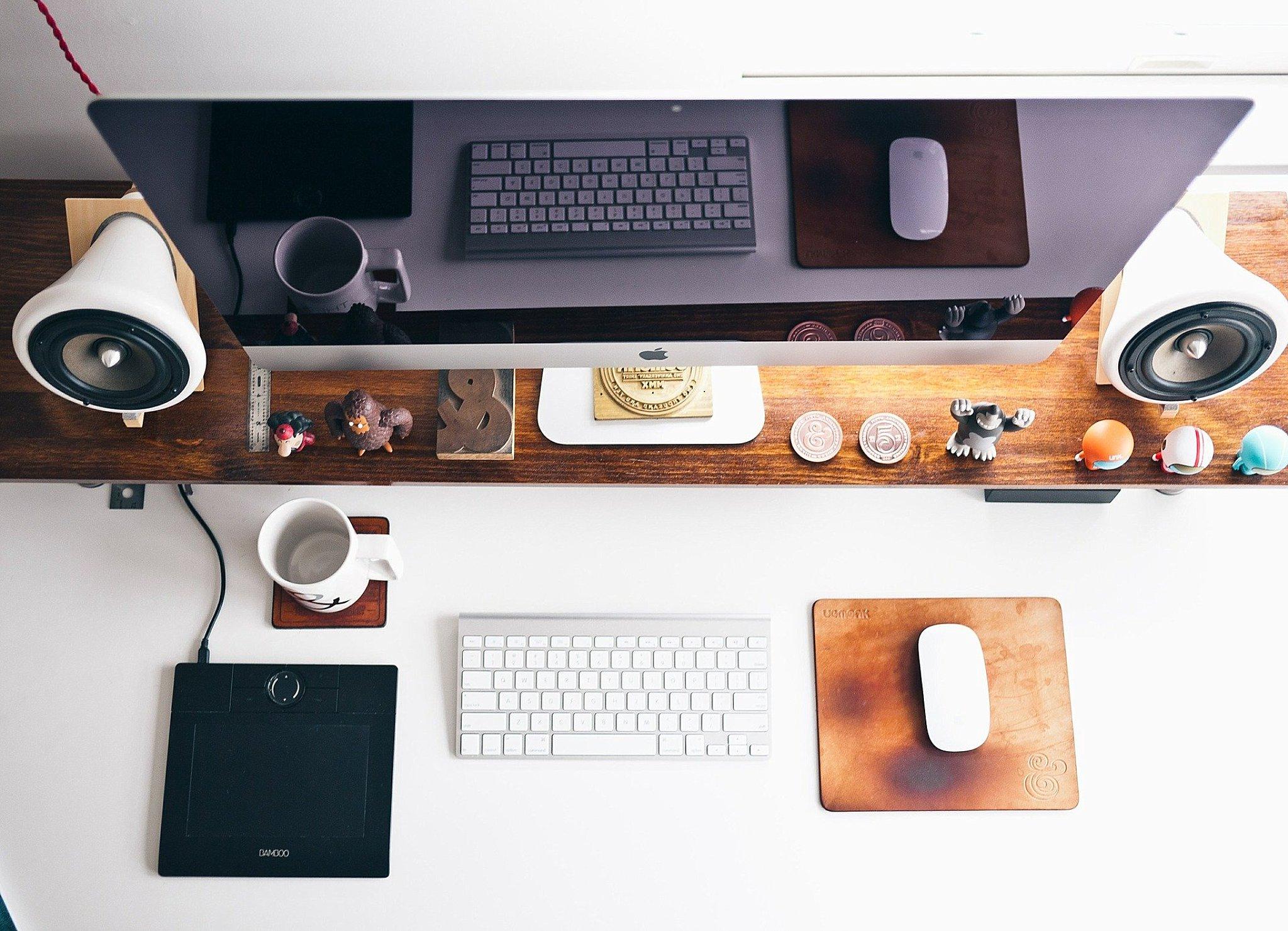 computer on modern desk