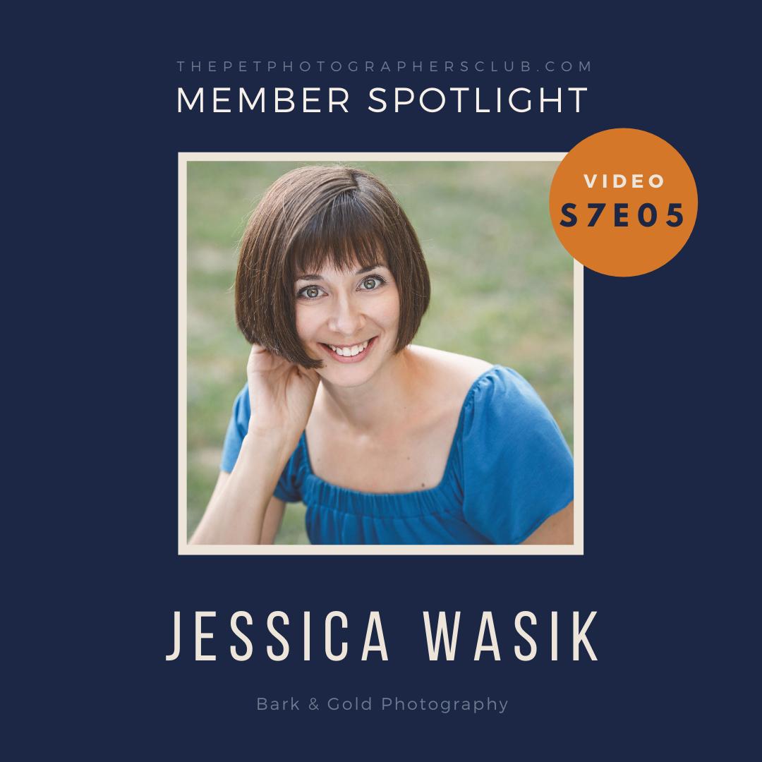 pet photographer Jessica Wasik on The Pet Photographers Club podcast